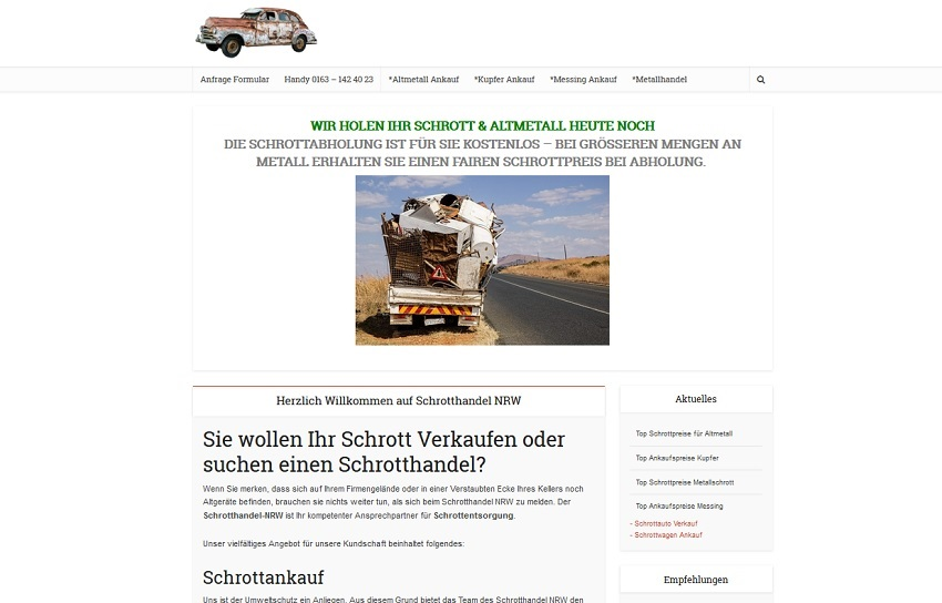 Schrotthändler in Duisburg | SchrottAnkauf: Sofort Bargeld für Ihr Schrott