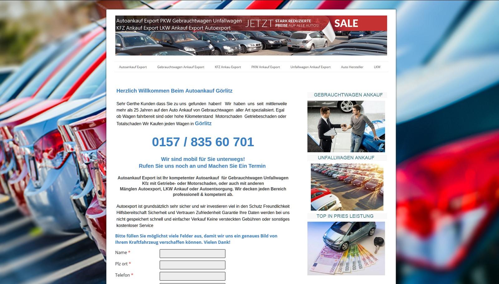 Autoankauf Export - PKW Ankauf Unfallwagen Export - Wir Kaufen jeden Wagen