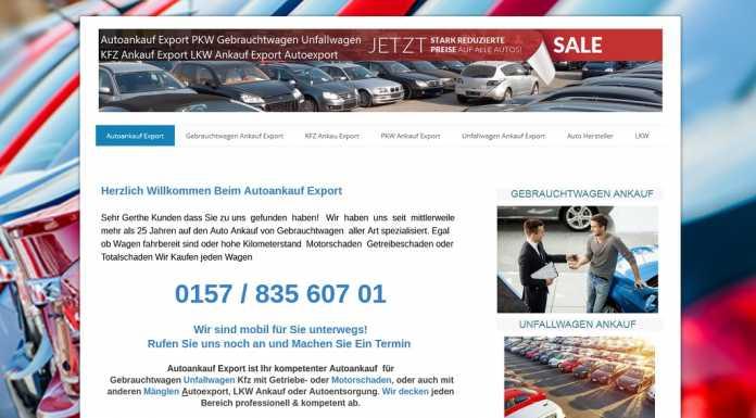 auto-ankauf-exports.de - Autoankauf