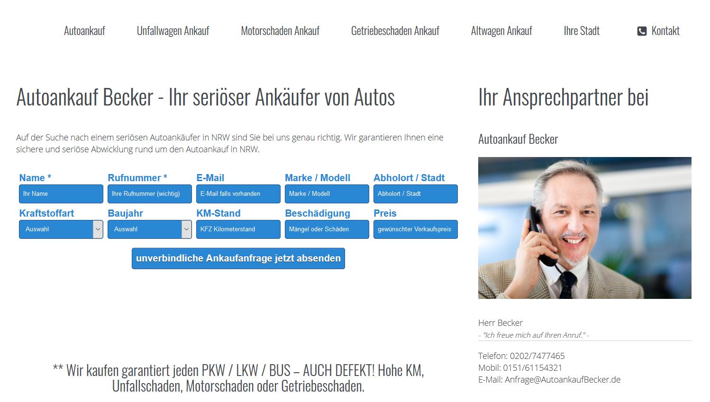 Autoankauf Becker - Ihr Autoankauf Spezialist in Solingen