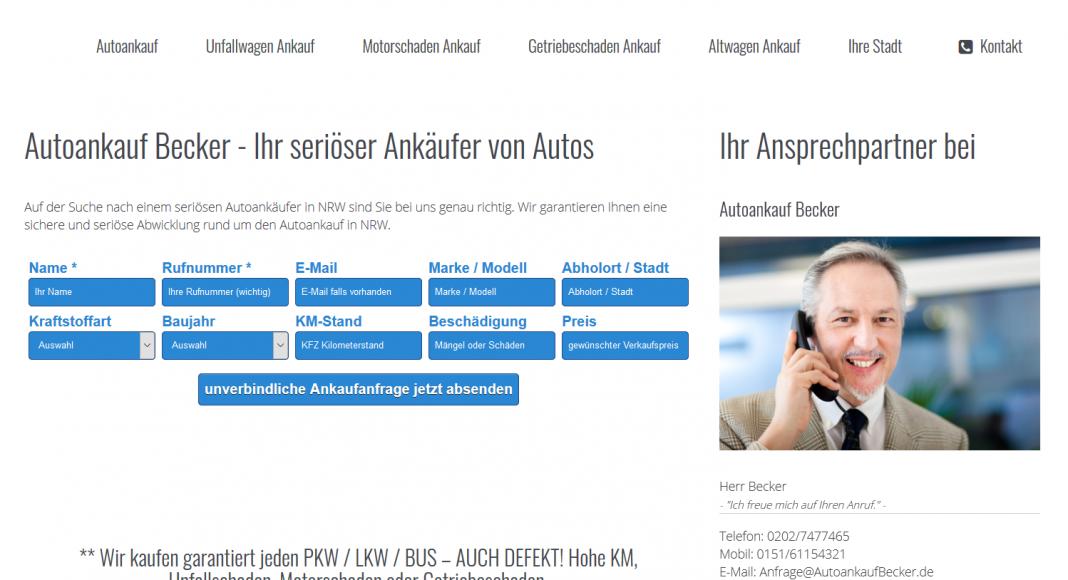 Autoankauf Mit Motorschaden - autoankaufbecker.de