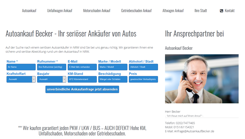 Altwagen Ankauf Becker – Sicherer & seriöser Fahrzeugankauf
