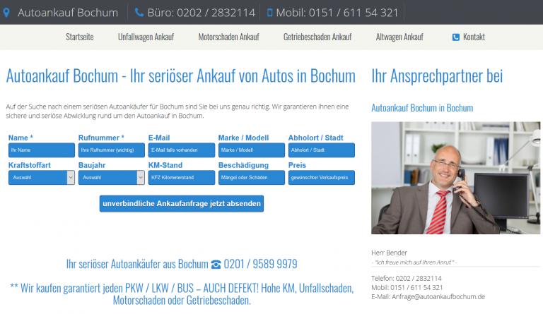 Autoankauf Bochum – Ihr seriöser Ankauf von Autos in Bochum