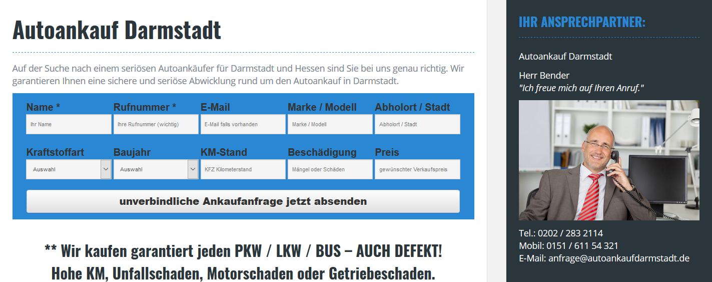 Autoankauf Darmstadt: Auto sicher in Darmstadt verkaufen