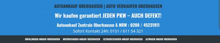 Autoankauf Oberhausen – Wir kaufen Ihr Auto unkompliziert an!
