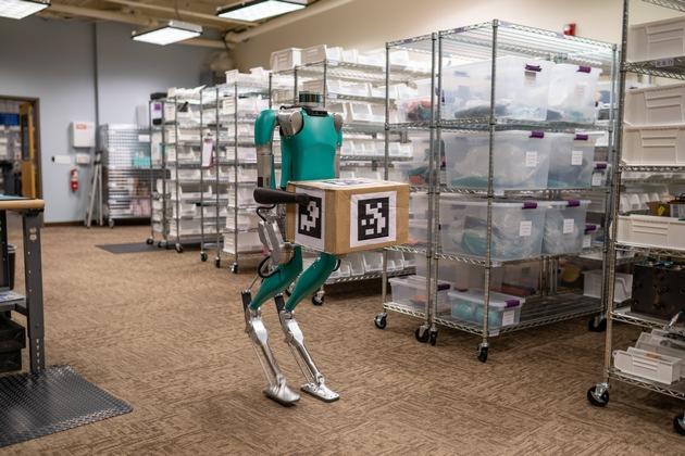 CES 2020 in Las Vegas: Ford zeigt humanoiden Roboter Digit zur Erforschung zukünftiger Liefer- und Lagerlogistik