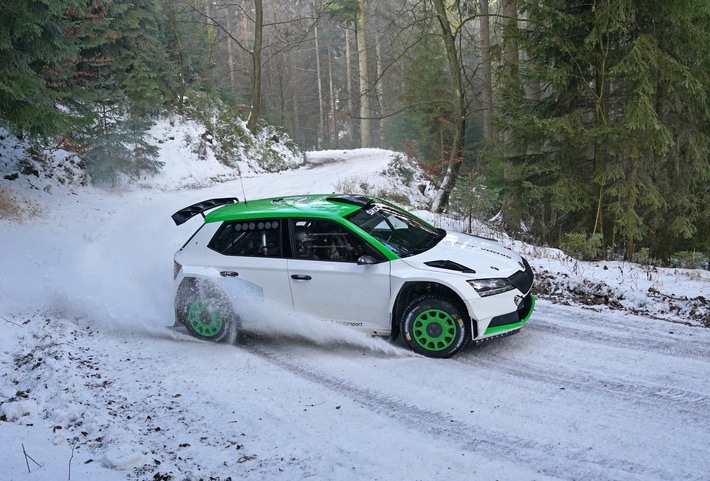 SP_10128.JPG SKODA Motorsport kooperiert in WRC3-Kategorie der FIA-Rallye-Weltmeisterschaft mit Oliver Solberg