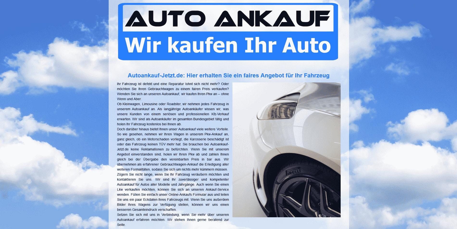 Professioneller Autoankauf in Eisenach zu Top-Preisen autoankauf-jetzt.de/