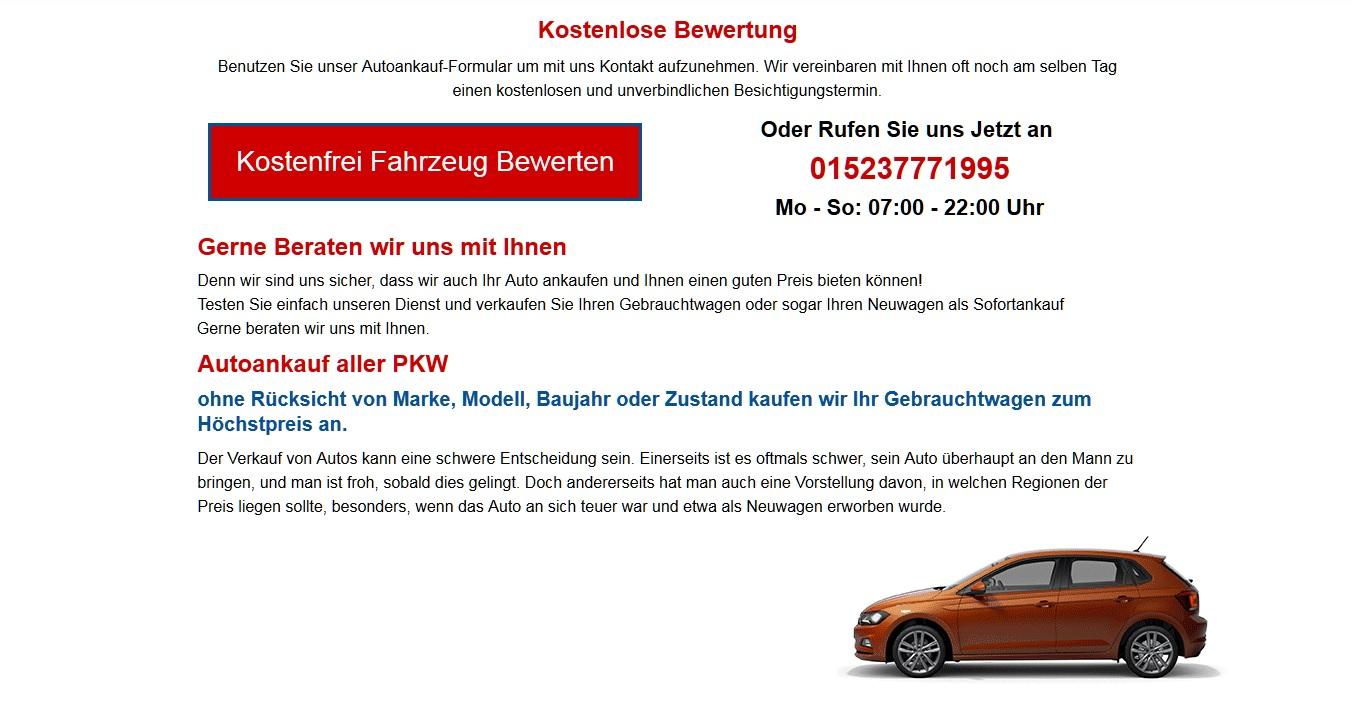 Autoankauf Rostock | spezialisierter Auto ankauf in Rostock