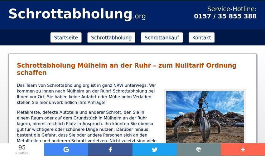 Mobile Schrotthändler in Mülheim an der Ruhr