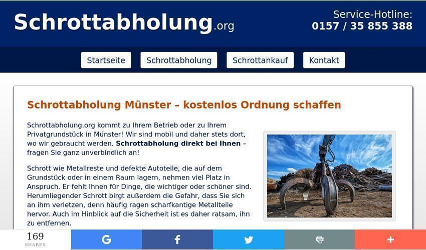 Metall entsorgen in Münster – Schrott abholen lassen
