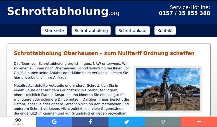 Umzug, Renovierung oder Frühjahrsputz – Schrottabholung Oberhausen