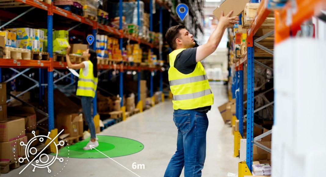 COVID-19 Mitarbeiterschutz über den Digital Twin: INTRANAV Social Distance Management