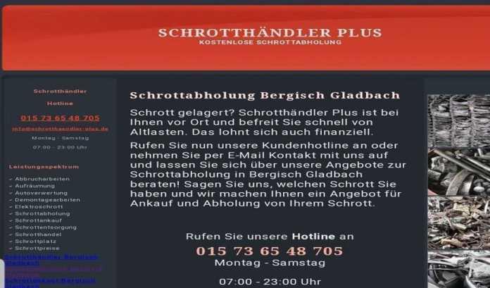 Schrottabholung Bergisch Gladbach