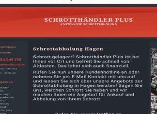 Kostenlose Schrottabholung Hagen und Umgebung