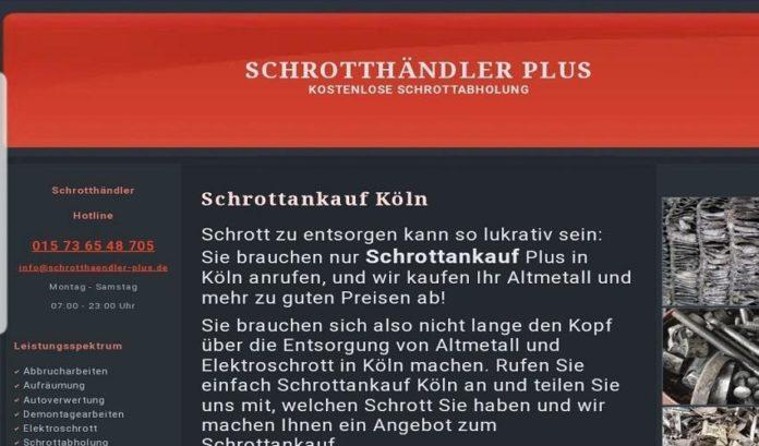 Wir kaufen Altmetall und Schrott von Ihrem Standort in Köln