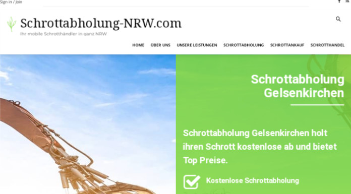 Der Schrottabholung Gelsenkirchen holt Ihren Metall- und Elektroschrott ab