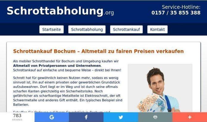 Schrottankauf in Bochum bei einem fahrenden Schrotthändler