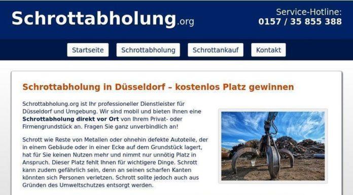 kostenlos Schrottabholung in Düsseldorf