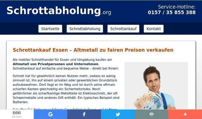 Schrottankauf in Essen beim Team von Schrottabholung.org