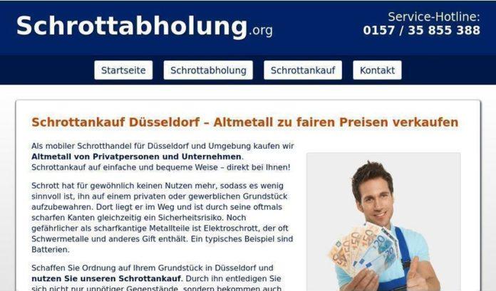 Schrottankauf in Düsseldorf - Schrottabholung.org