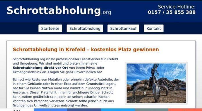 Mobile Schrotthändler fahren zu ihren Kunden - Schrottabholung in Krefeld