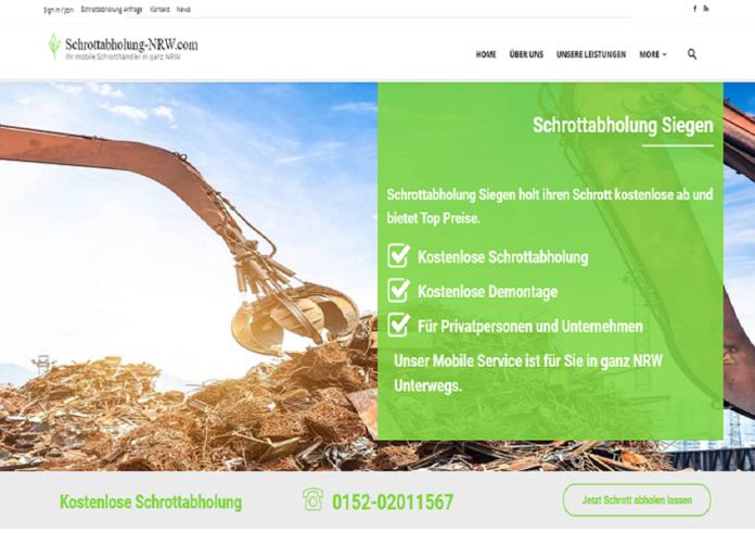 Schrottabholung Siegen kauft jeden Schrott ab