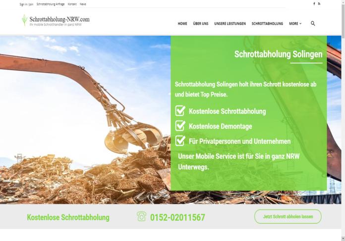 Schrottabholung Solingen ermöglicht eine professionelle und unkomplizierte Schrottentsorgung