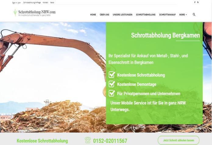 Schrottabholung Bergkamen - Schrottabholung-Nrw.com