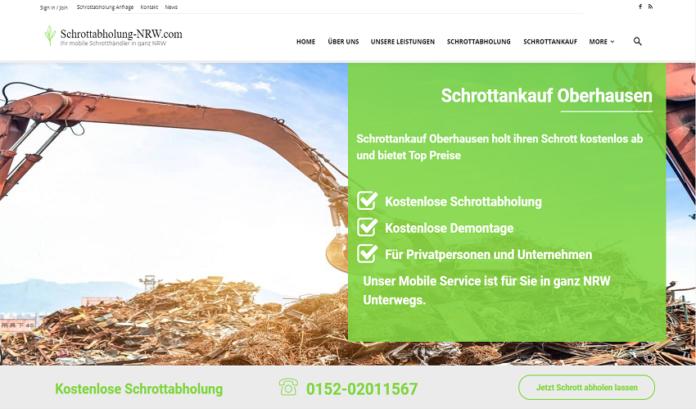 Schrottankauf Oberhausen: kauft Ihren Metall- und Elektroschrott an