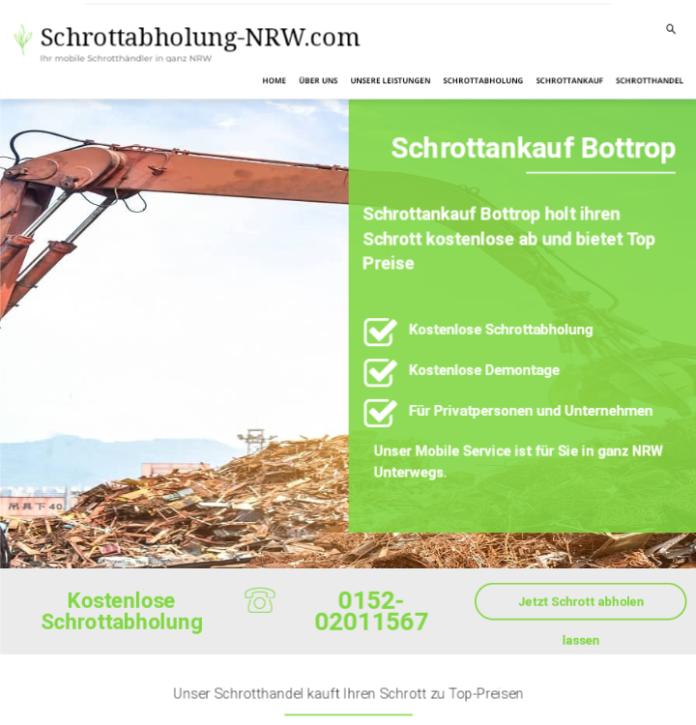 Schrottabholung und fairer Schrottankauf in Bottrop