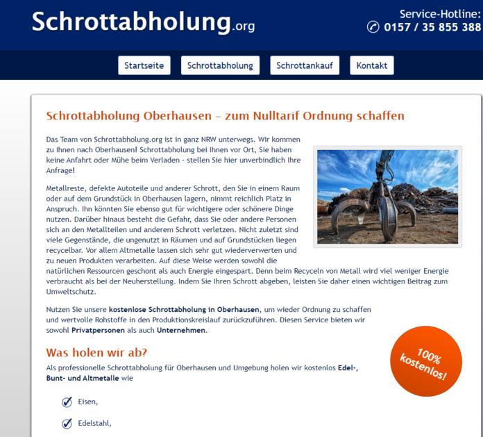 Schrottankauf in Bochum