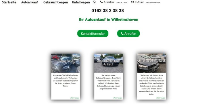 Autoankauf Wilhelmshaven