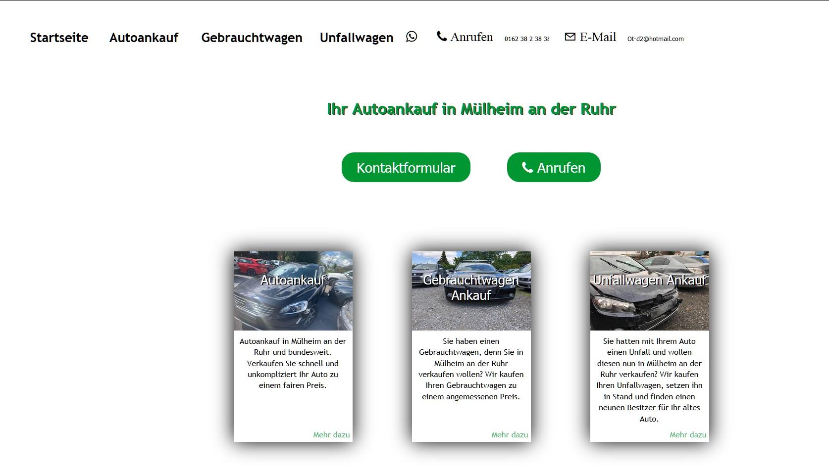 """Autoankauf Wuppertal: Kostenlose Abholung in über all. Bei """"ot-autoankauf.de"""