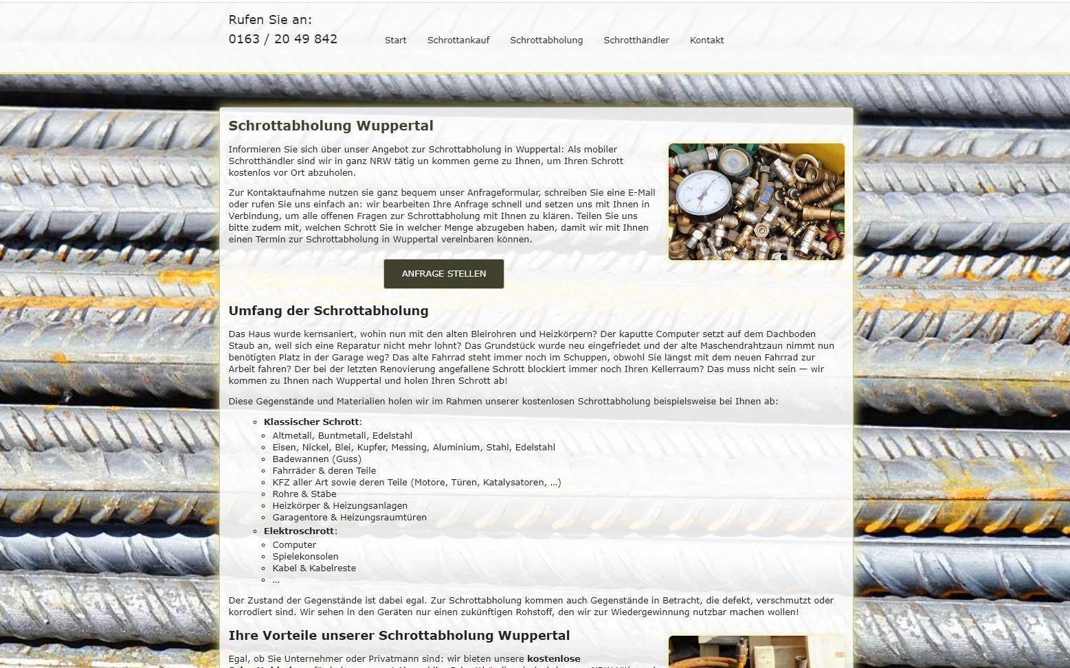 Schrottabholung in Wuppertal – Schrott ordnungsgemäß entsorgen