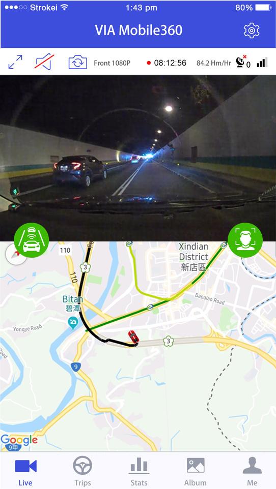 Smart AI DashCam VIA Mobile360 D700 erhöht Fahrsicherheit durch neue KI-Funktionen zur Unfallprävention