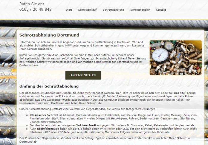 Schrottabholung in Dortmund