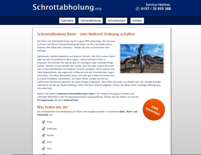 Die Schrottabholung für Bonn: Eine Tätigkeit mit Tradition über Schrottabholung.org