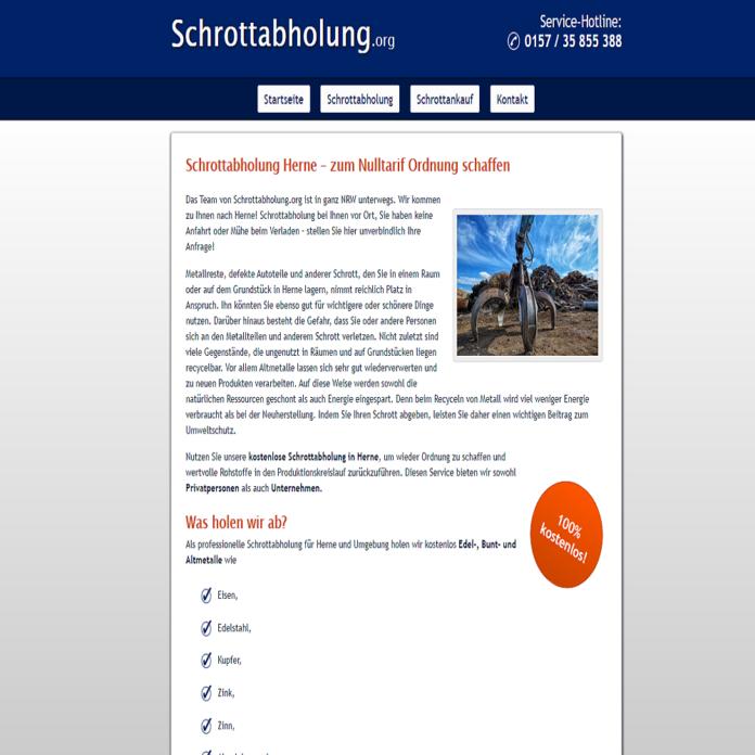 Schrotthändler zahlen wir gute Preise über Schrottabholung.org – Schrottabholung in Herne