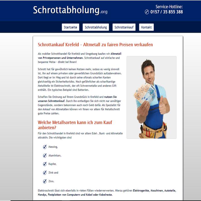 Der Schrottankauf in Krefeld holt Schrott kostenlos beim Kunden ab
