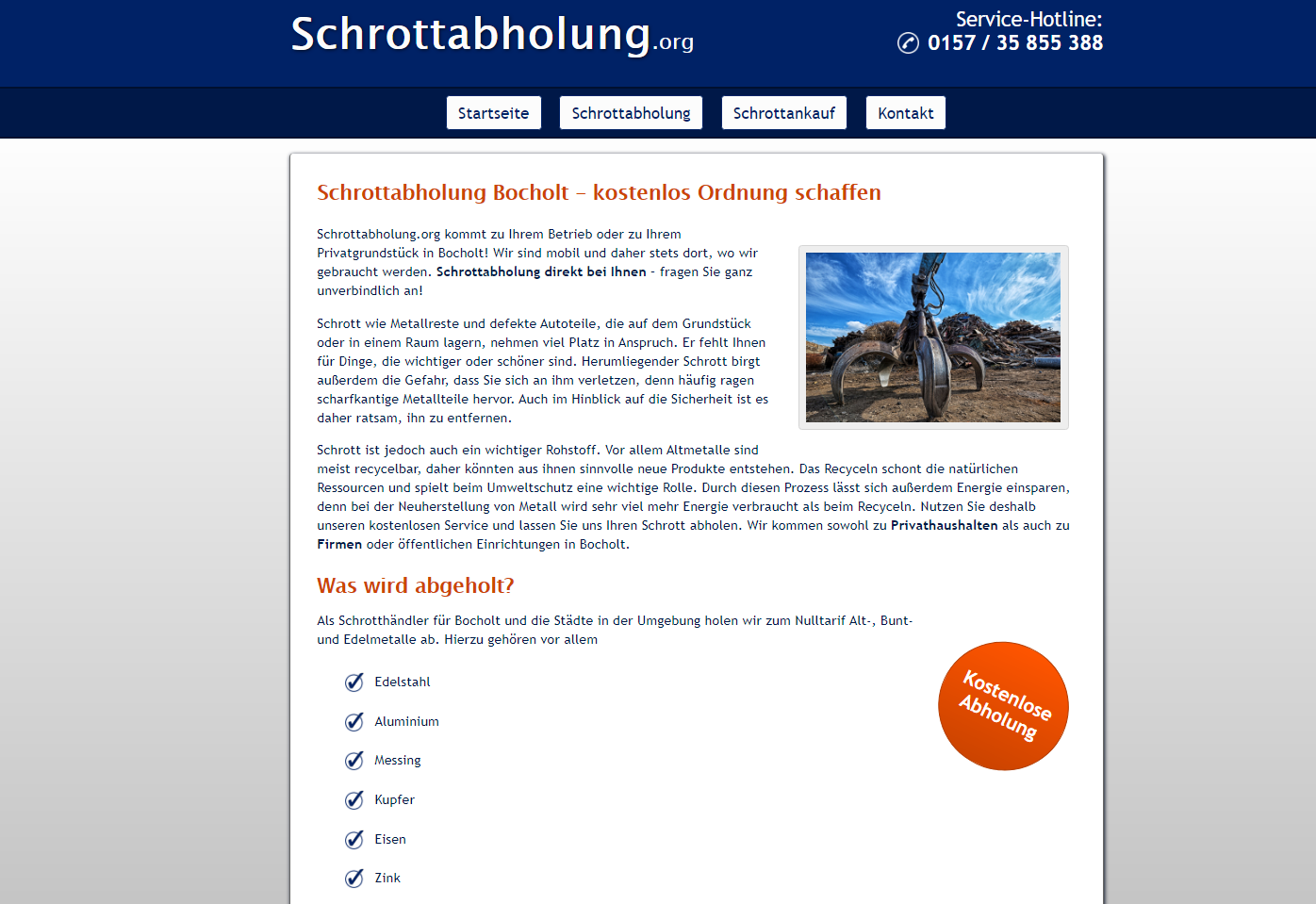 Mobile Schrotthändler in Bocholt