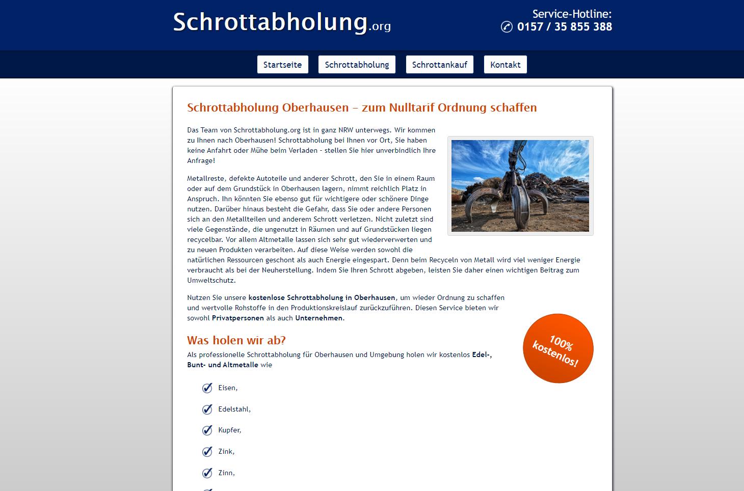 Metalle entsorgen in Oberhausen– Schrott abholen lassen