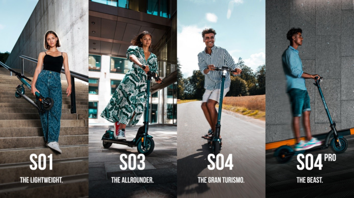 Neues E-Scooter Line-Up von SoFlow