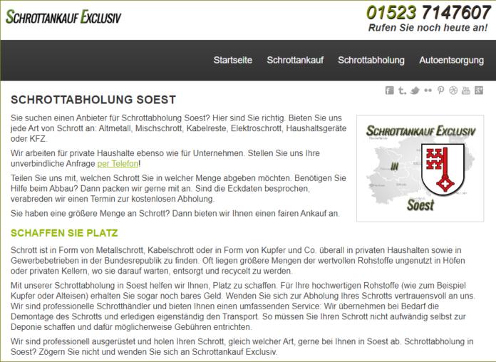 Schrottabholung in Soest leicht gemacht – sachgerechtes Recycling für Privat und Gewerbe