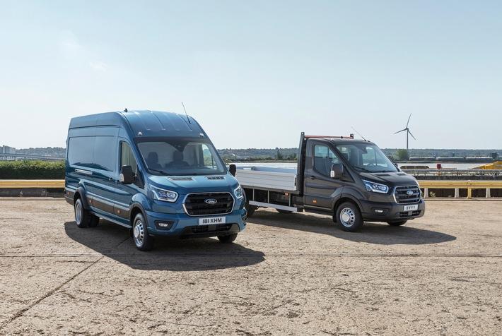 Ford Transit jetzt als 5-Tonner mit höherer Nutzlast lieferbar