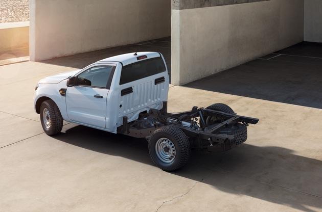 Neu: Ford Ranger als Fahrgestell-Variante - geländetaugliches Basisfahrzeug für maßgeschneiderte Aufbauten