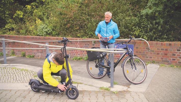 Moderne Mobilität auf dem Weg zur Arbeit