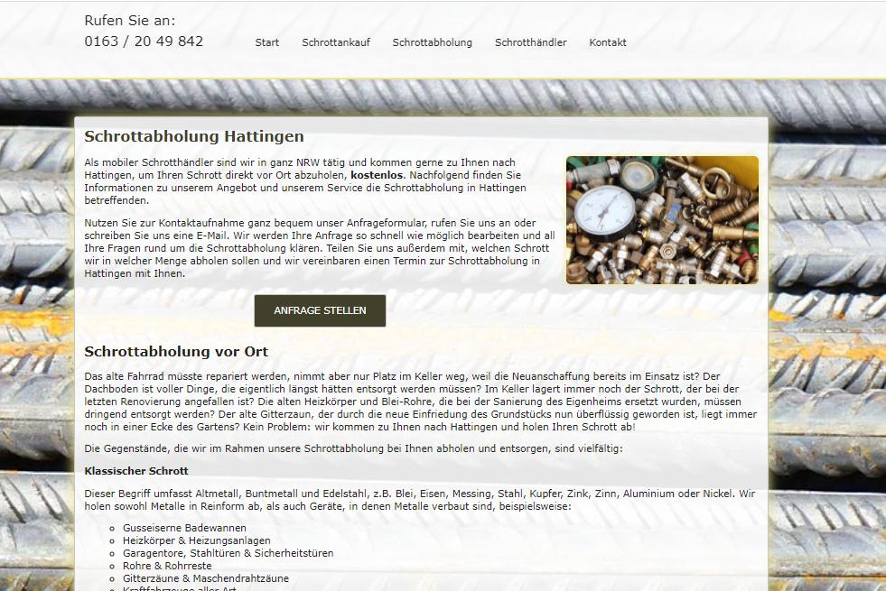 Schrottabholung In Hattingen – Altmetallschrott