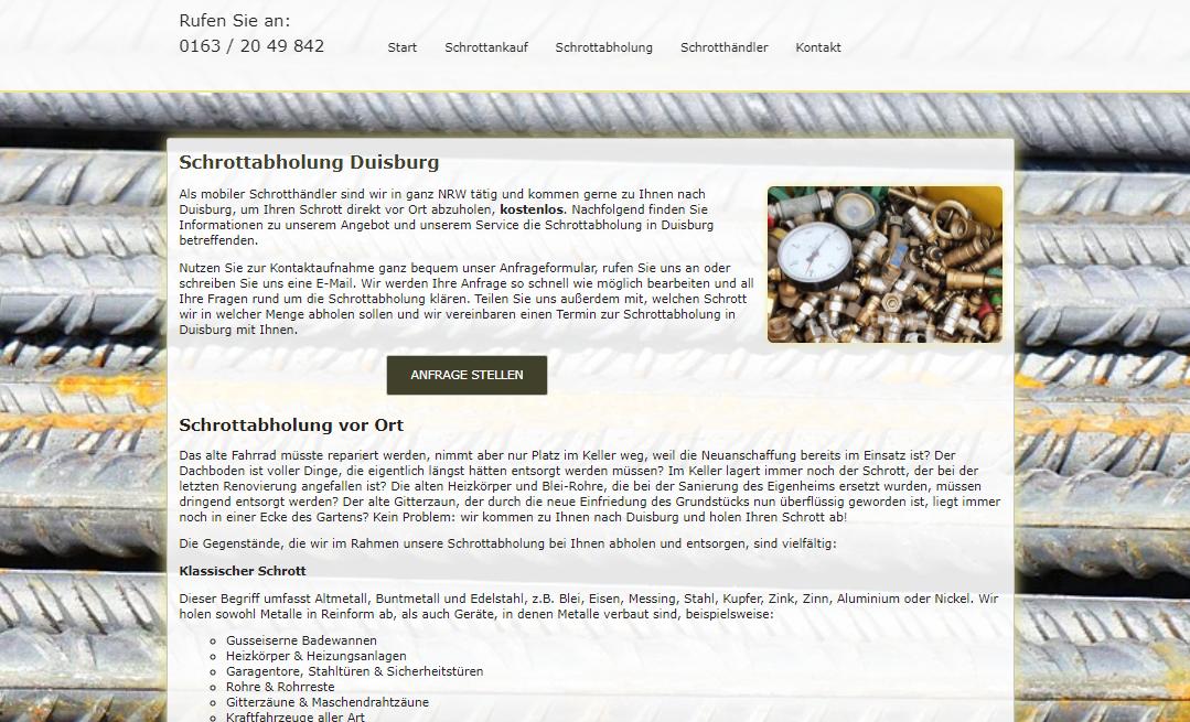 Kostenlose Schrottabholung In Duisburg