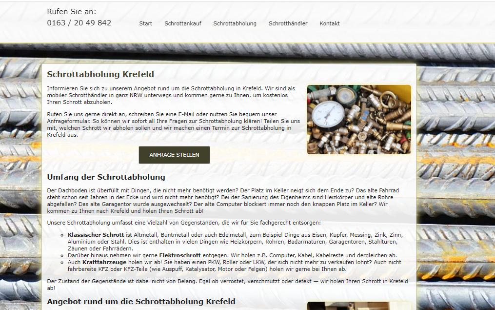 Fahrende Schrottabholung Kaufen Schrott In Krefeld – Altmetallentsorgung
